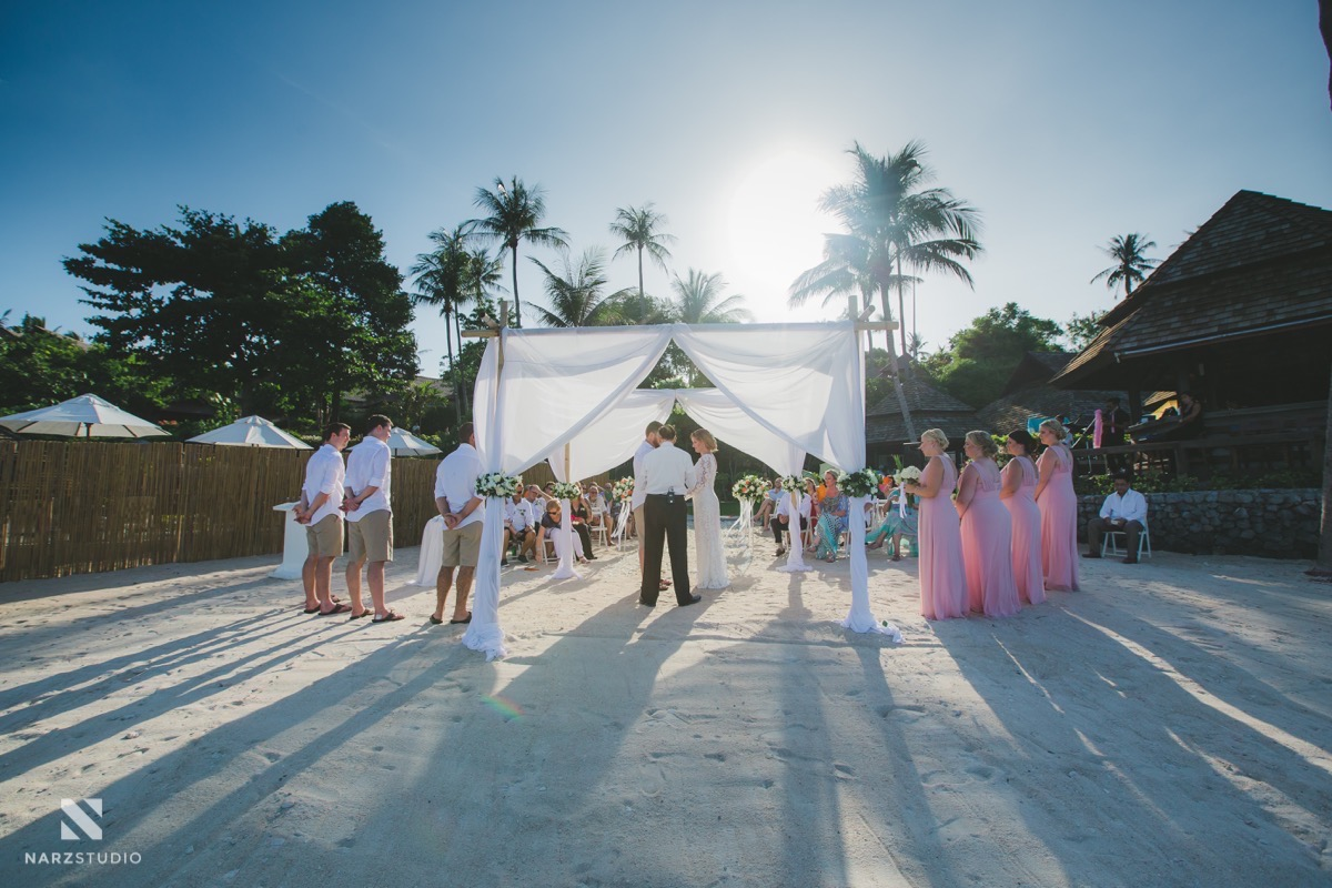 Hollie & Mick Koh Samui Wedding Photograper at Nora resort